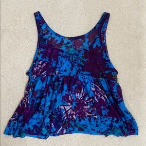 Free People Tops - Free People Rave On Boxy Babydoll Tank